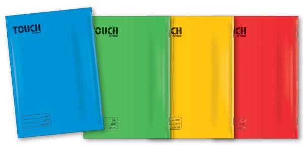 תמונה של מארז מחברות טאצ צבעוניות 40 דף שורה