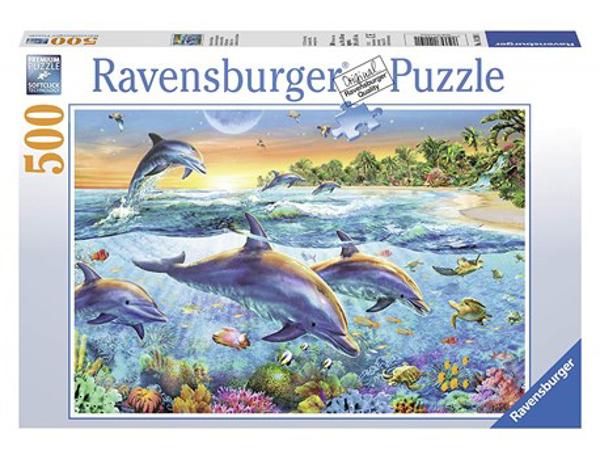 תמונה של פאזל 500 חלקים ריף דולפינים