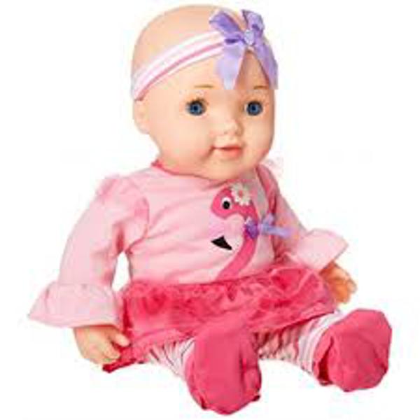 תמונה של בובת תינוק מוצץ בקבוק וקשקשן