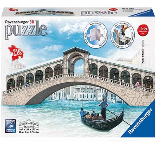תמונה של פאזל תלת-מימד 216 חלקים גשר ריאלטו שבוונציה