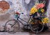 תמונה של פאזל אופניים עם פרחים 500 חלקים