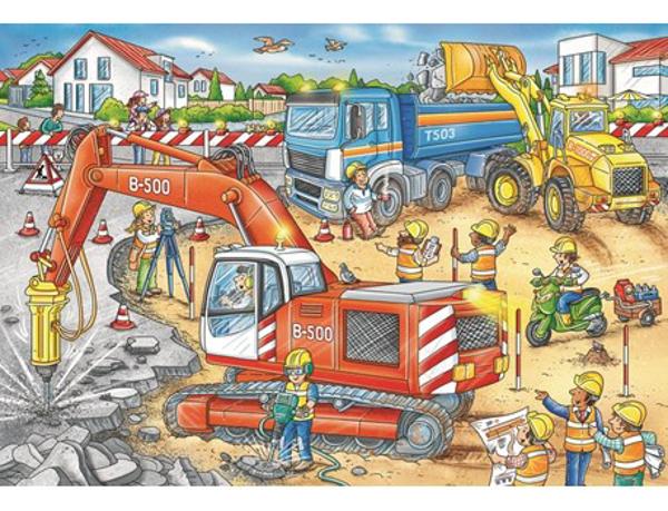 תמונה של פאזל מכונות עבודה 2*12 חלקים