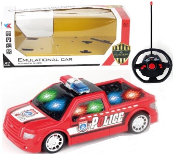 תמונה של מכונית שלט טנדר מכונית משטרה אורות