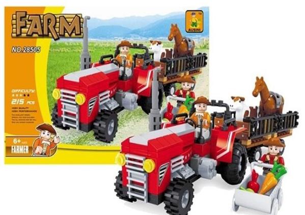 תמונה של משחק הרכבה תואם לגו טרקטור חווה