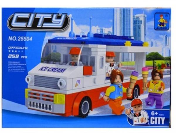תמונה של משחק הרכבה תואם לגו אוטו גלידה