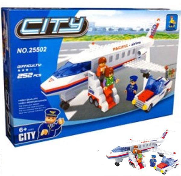 תמונה של משחק הרכבה תואם לגו מטוס גדול