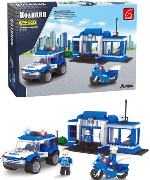 תמונה של משחק הרכבה תואם לגו תחנת משטרה