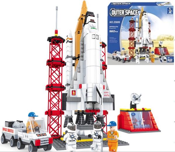 תמונה של משחק הרכבה תואם לגו מעבורת חלל