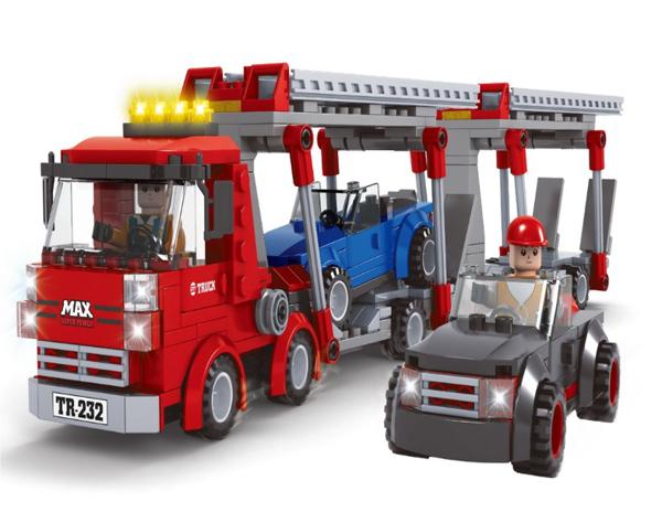 תמונה של משחק הרכבה תואם לגו משאית גרר