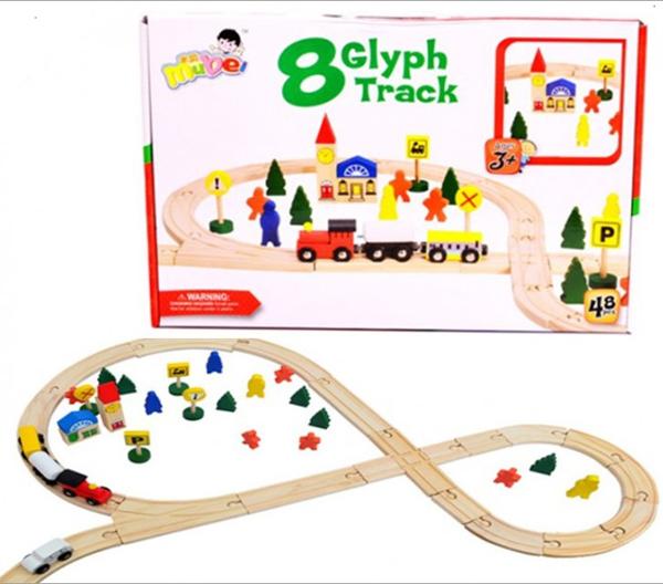 תמונה של הרכבה מסלול רכבת עץ