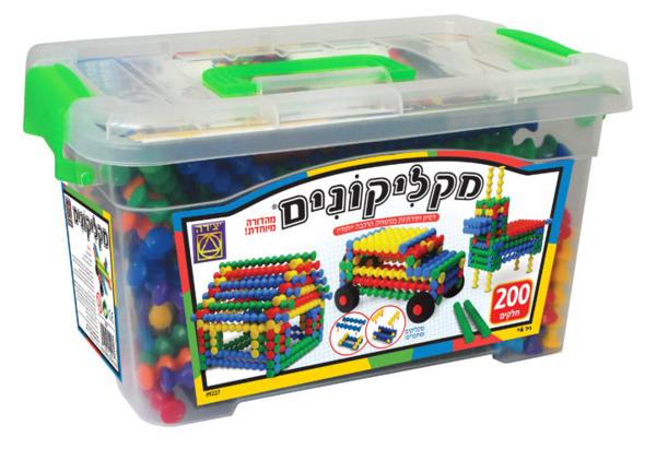 תמונה של משחק הרכבה מקליקונים 200 חלקים