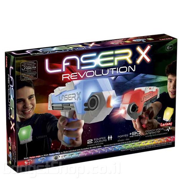 תמונה של זוג רובי לייזר טאג עם אפודים LASER X רבולושיון