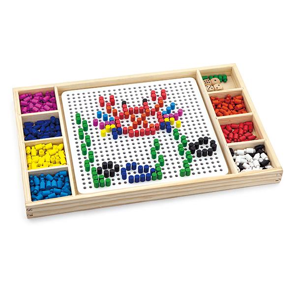 תמונה של משחק יצירה העתקת דגם ולודו עץ ויגה