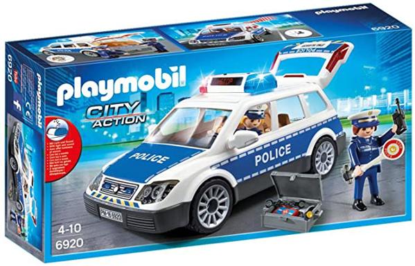 תמונה של פליימוביל רכב משטרה עם אורות וצלילים