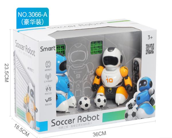 תמונה של זוג רובוט כדורגל שלט
