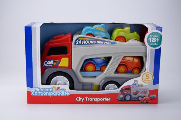 תמונה של משאית נושאת מכוניות