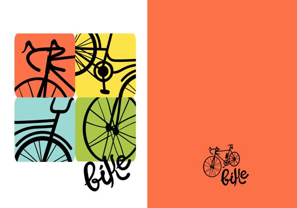 תמונה של עטיפות למחברת דגם אופניים