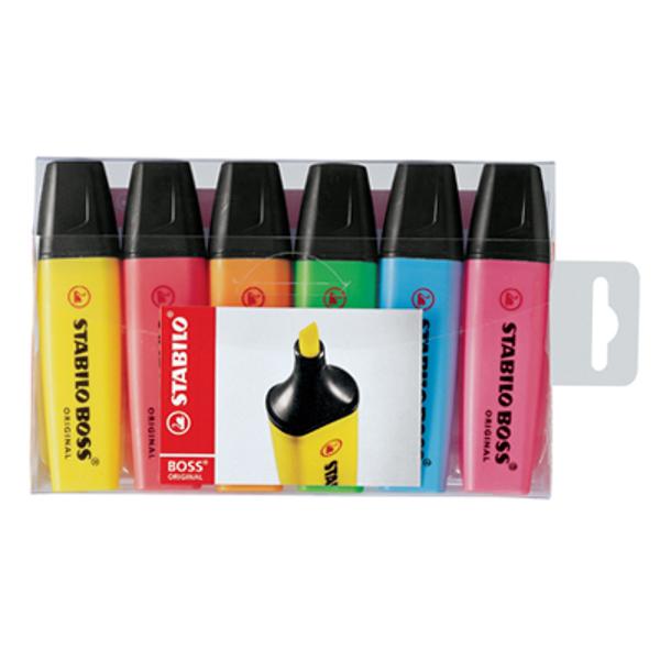 תמונה של סט טוש הדגשה מרקרים סטבילו 6 צבעים