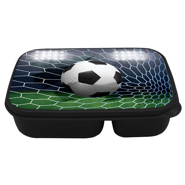 תמונה של קופסת אוכל מחולקת דגם כדורגל