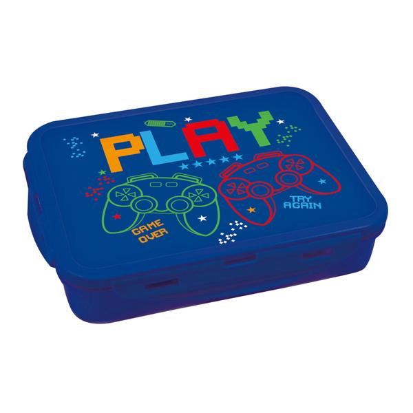 תמונה של קופסת אוכל מחולקת עם קליפסים דגם גיימינג