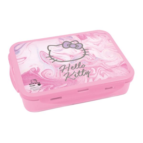 תמונה של קופסת אוכל מחולקת עם קליפסים דגם הלו קיטי