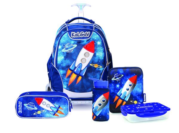 תמונה של סט ילקוט לכיתה א' קל גב דגם חלל