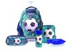 תמונה של סט ילקוט לכיתה א' קל גב דגם כדורגל טורקיז